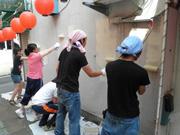 壁塗りワークショップ画像